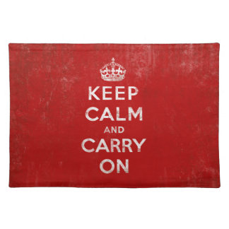 Keep Calm and Carry On Vintage Red Placemat
