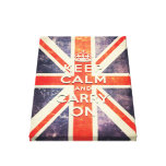 keep calm and carry on vintage Union Jack flag Stretched Canvas Print