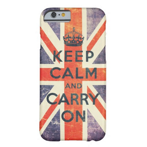 keep calm and carry on vintage Union Jack flag iPhone 6 Case