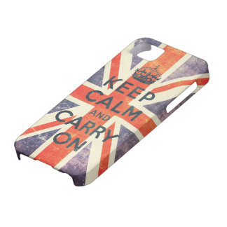 keep calm and carry on vintage Union Jack flag iPhone 5 Cover