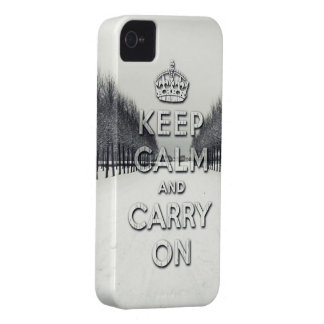 keep calm and carry on Winter season iPhone 4 Covers
