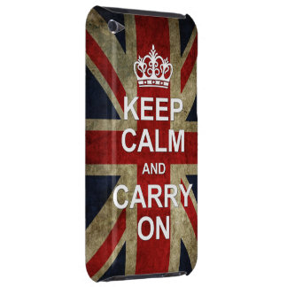 Keep Calm and Carry On - with British Flag iPod Touch Case-Mate Case