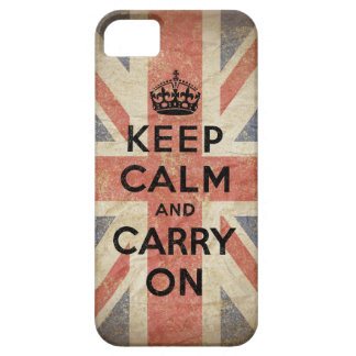 Keep Calm and Carry On with UK Flag iPhone 5 Cases