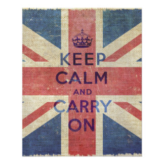 Keep Calm and Carry On with UK flag Flyer
