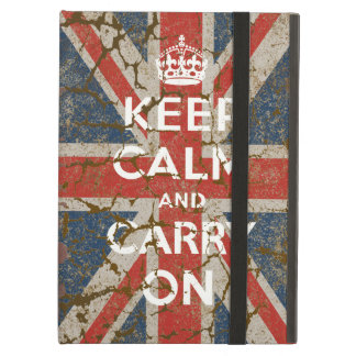 Keep Calm and Carry On with UK  Flag iPad Air Cover