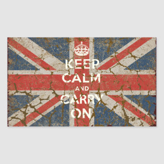 Keep Calm and Carry On with UK  Flag Stickers