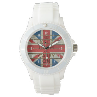 Keep Calm and Carry On with UK flag | Watch