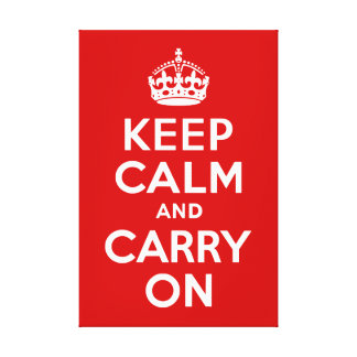 Keep Calm and Carry On Wrapped Canvas