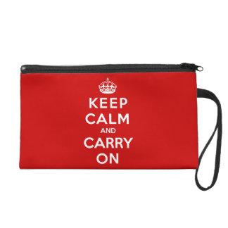 Keep Calm and Carry On Wristlet Purses