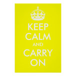 Keep Calm and Carry On Yellow Print