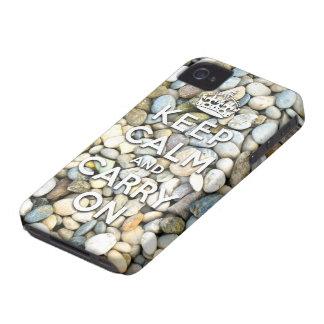 keep calm and carry on Zen attitude Blackberry Case