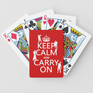 Keep Calm and Carry On (zombies) (any color) Bicycle Playing Cards