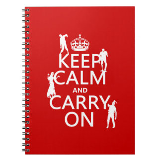 Keep Calm and Carry On (zombies) (any color) Notebook