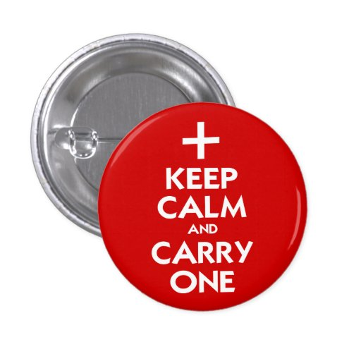Keep Calm and Carry One Button