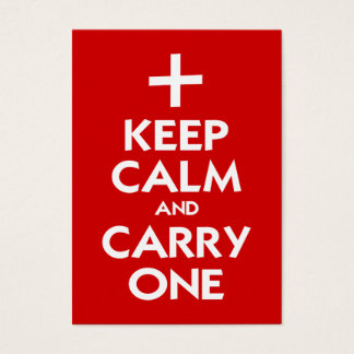 Keep Calm and Carry One Business Card