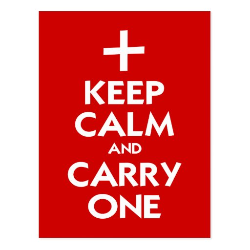 Keep Calm and Carry One Postcard