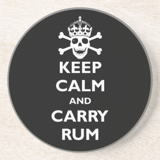Keep Calm and Carry Rum Coaster