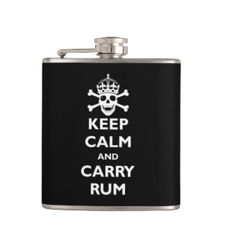 Keep Calm and Carry Rum Flask