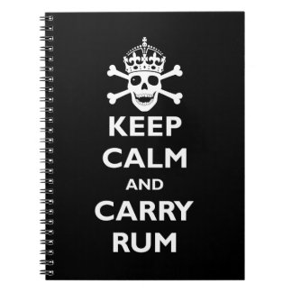 Keep Calm and Carry Rum Notebook