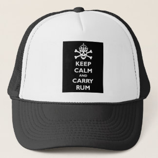 Keep Calm and Carry Rum Trucker Hat
