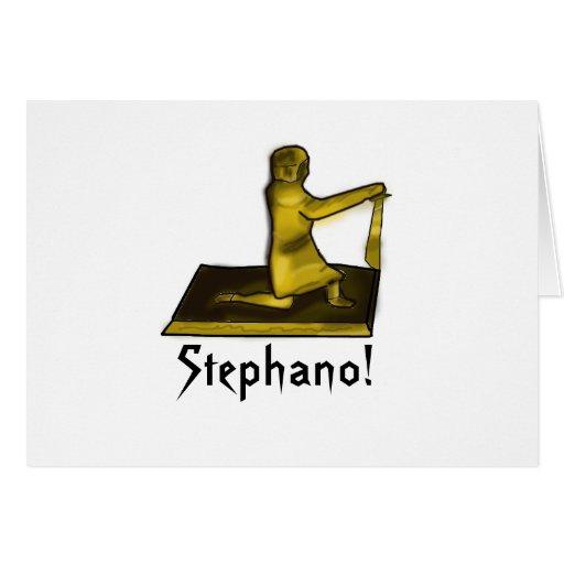 Keep Calm and Carry Stephano Card