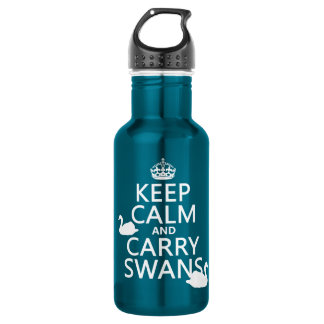 Keep Calm and Carry Swans - all colors 532 Ml Water Bottle