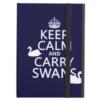 Keep Calm and Carry Swans - all colors Case For iPad Air