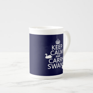 Keep Calm and Carry Swans - all colors Tea Cup