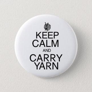 Keep Calm and Carry Yarn 6 Cm Round Badge
