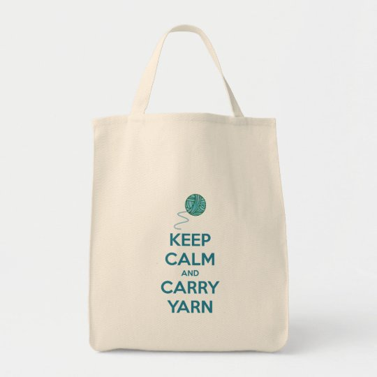 Keep Calm and Carry Yarn Knitting Project Bag