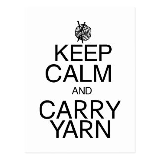 Keep Calm and Carry Yarn Post Cards