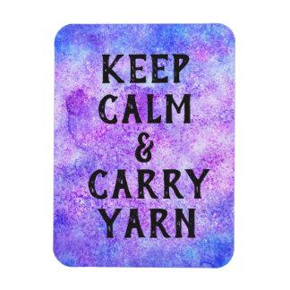 Keep Calm and Carry Yarn Purple Magnet