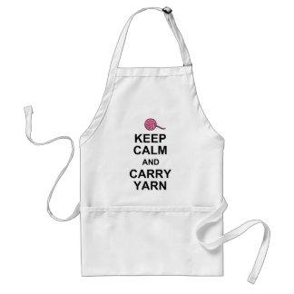 Keep Calm and Carry Yarn Standard Apron