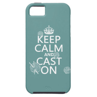 Keep Calm and Cast On - all colors iPhone 5 Cover