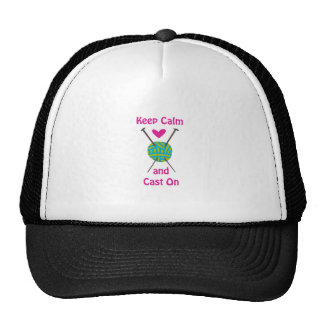KEEP CALM AND CAST ON TRUCKER HAT
