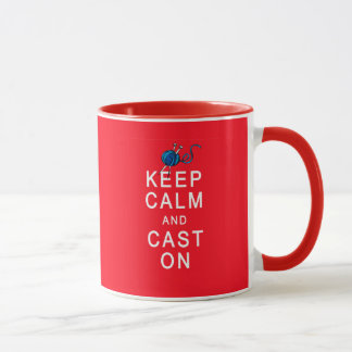 Keep Calm and Cast On Knitting Tshirt or Gift Mug