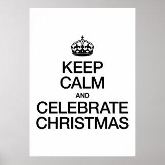 KEEP CALM AND CELEBRATE CHRISTMAS PRINT