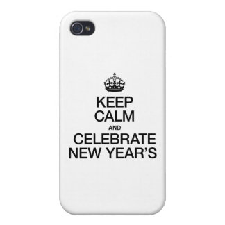 KEEP CALM AND CELEBRATE NEW YEARS iPhone 4 COVERS