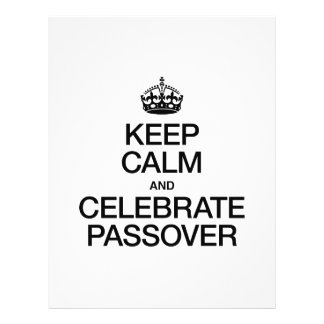 KEEP CALM AND CELEBRATE PASSOVER 21.5 CM X 28 CM FLYER