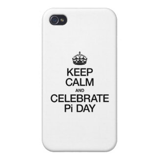 KEEP CALM AND CELEBRATE PI DAY iPhone 4/4S COVER
