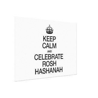 KEEP CALM AND CELEBRATE ROSH HASHANAH CANVAS PRINT