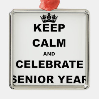 KEEP CALM AND CELEBRATE SENIOR YEAR.png Christmas Ornament