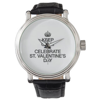 KEEP CALM AND CELEBRATE ST VALENTINES DAY WRISTWATCH