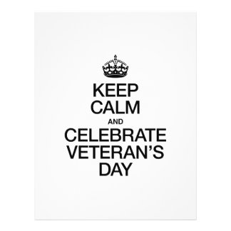 KEEP CALM AND CELEBRATE VETERANS DAY 21.5 CM X 28 CM FLYER