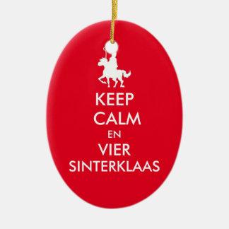 Keep Calm and celebrates Saint Nicholas ornament