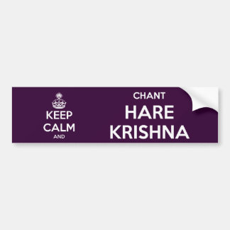 Keep Calm and Chant Hare Krishna Bumper Sticker