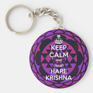 Keep Calm and Chant Hare Krishna Key Ring
