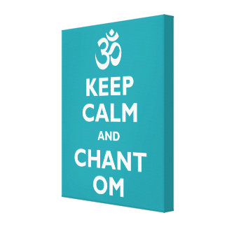 Keep Calm and Chant Om Canvas Print