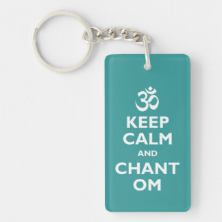 Keep Calm and Chant Om Key Ring