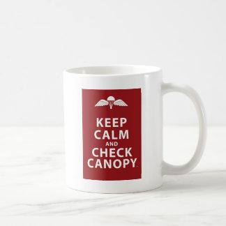 KEEP CALM AND CHECK CANOPY BASIC WHITE MUG